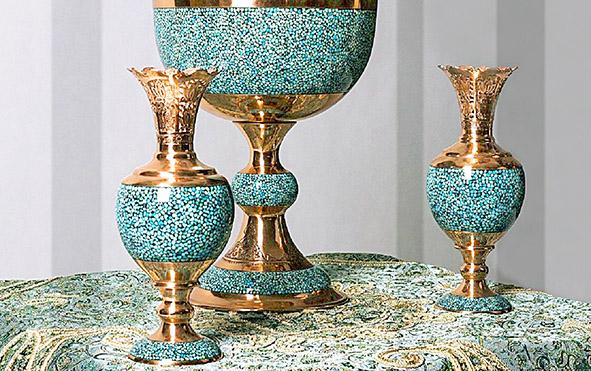 ظروف فیروزه کوب اصفهان