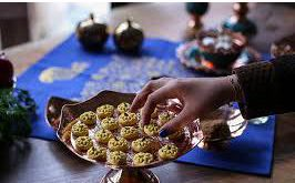 سفره شب یلدا با ظروف مسی سنتی و اصیل
